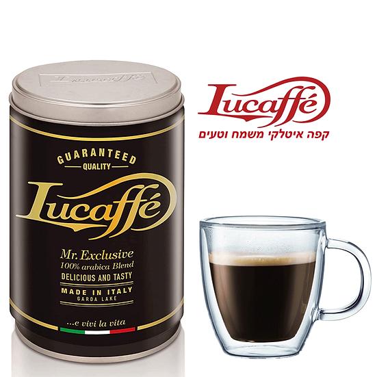Lucaffe Mr Exclusive - אקסלוסיב - פולי קפה - 250 גרם - פחית