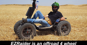 EZRaider is an offroad 4 wheel electric vehicle