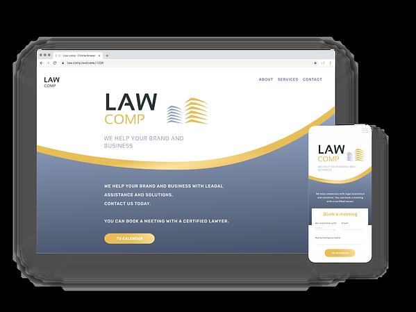 Law mockup responsiv hemsida