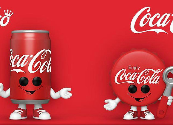 POP Funko: Coke- Coca-Cola Bottle Cap and POP Funko: Coke- Coca-Cola Can