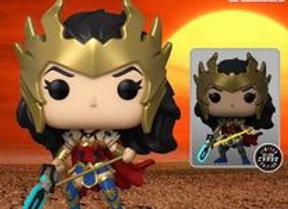POP! HEROES: DC DEATH METAL WONDER WOMAN PREVIEWS EXCLUSIVE CHASE SET