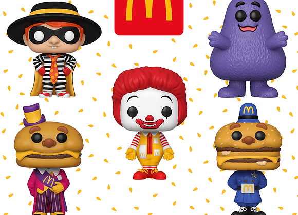 All 5 McDonald Funko Pieces for Lional Only