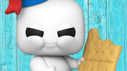 POP Movies: Ghostbusters: Afterlife- Mini Puft with Graham Cracker