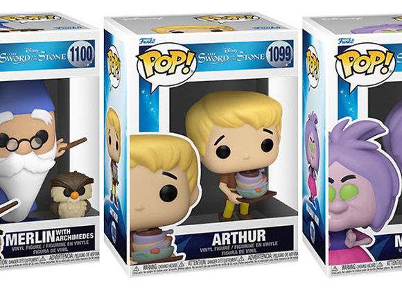 Pop! Disney - The Sword in the Stone Common Set