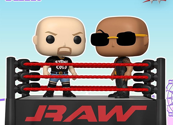 Funko WWE: The Rock vs Stone Cold in Wrestling Ring
