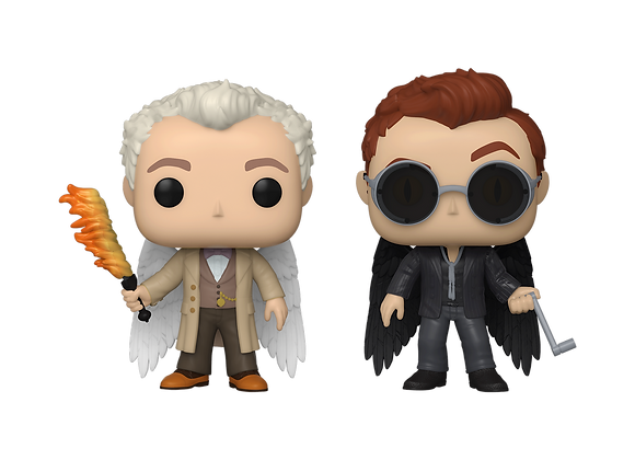 POP TV: Good Omens- 2PK Aziraphale and Crowley with Wings