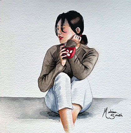 Coffee Time Watercolor_6x6_101519_round