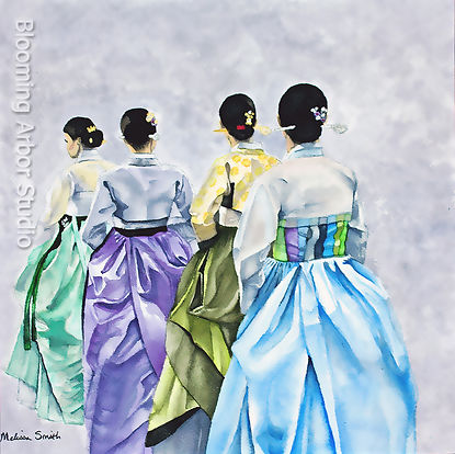 Hanbok colorful dress
