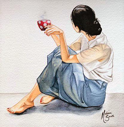 Morning Coffee_Watercolor_6x6_092019_rou