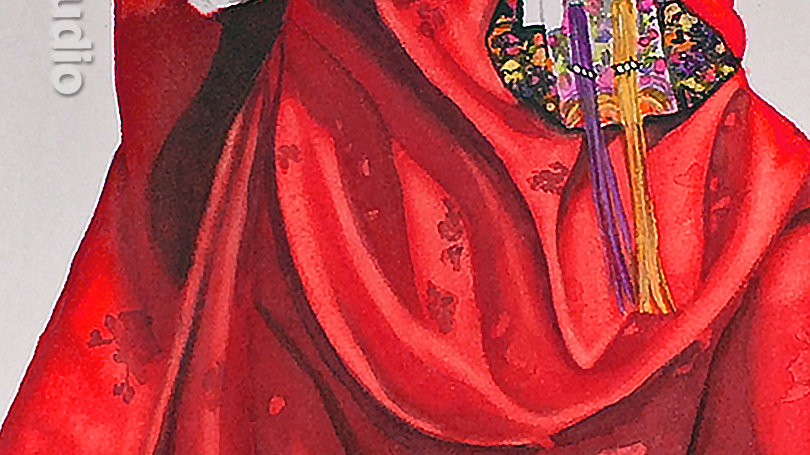 Red Hanbok