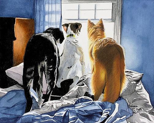 Kathy Sullivan_dogs_commission_Watercolo