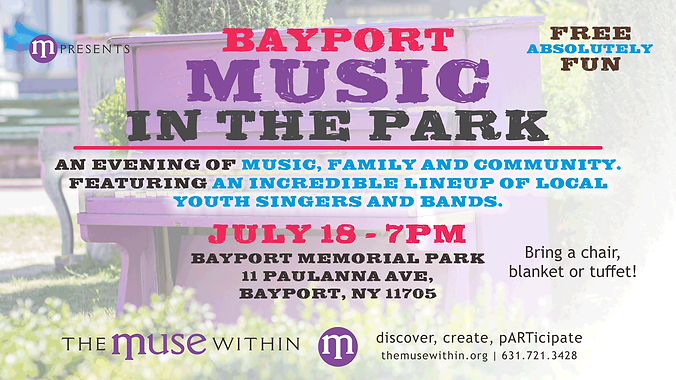 music in the park Bayport July 2019 imag