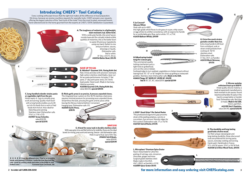 Chefs Tool Layout
