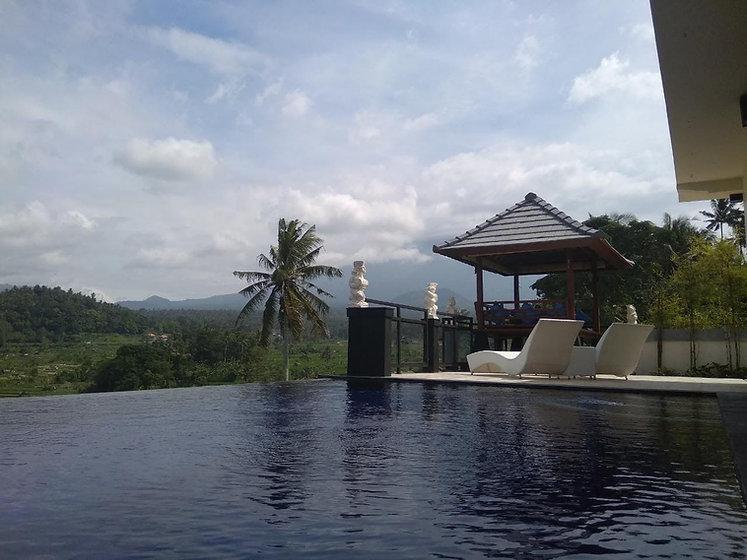 pool, terrace, gazebo
