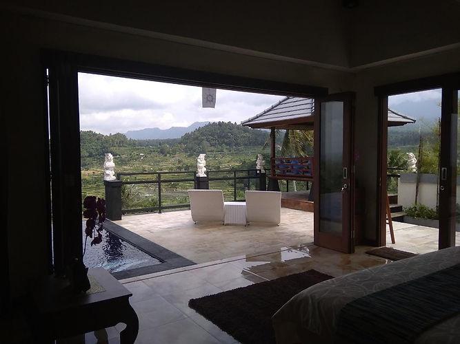 bedroom, view, terrace, gazebo