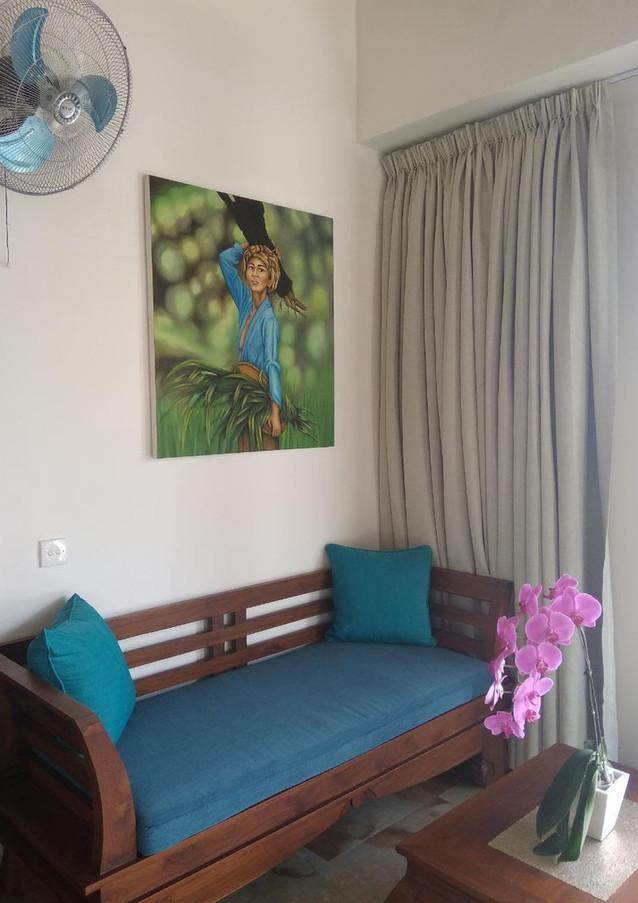 Sofa in bedroom