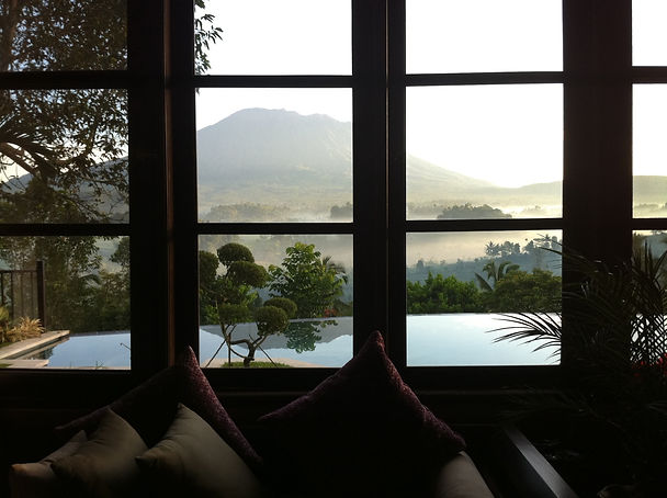 Mt. Agung from the master bedroom