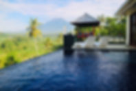 The infinity pool with a view.