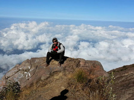 The volcano, Mt. Agung