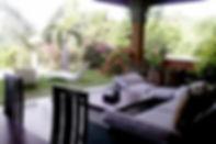 Villa Sidemen outdoor livingroom