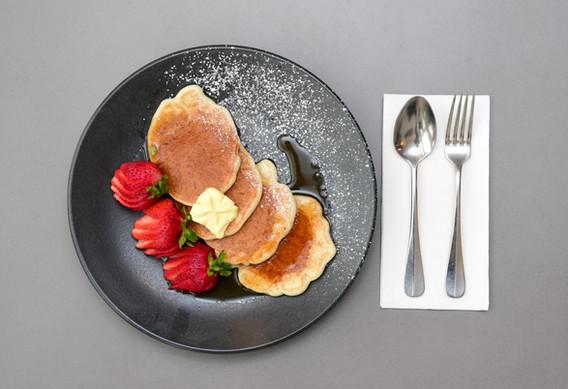 Freshly made pancakes