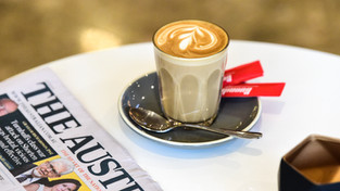 Coffee and morning paper to start your work day