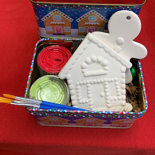Gingerbread Man and House Tin Kit-Acrylic