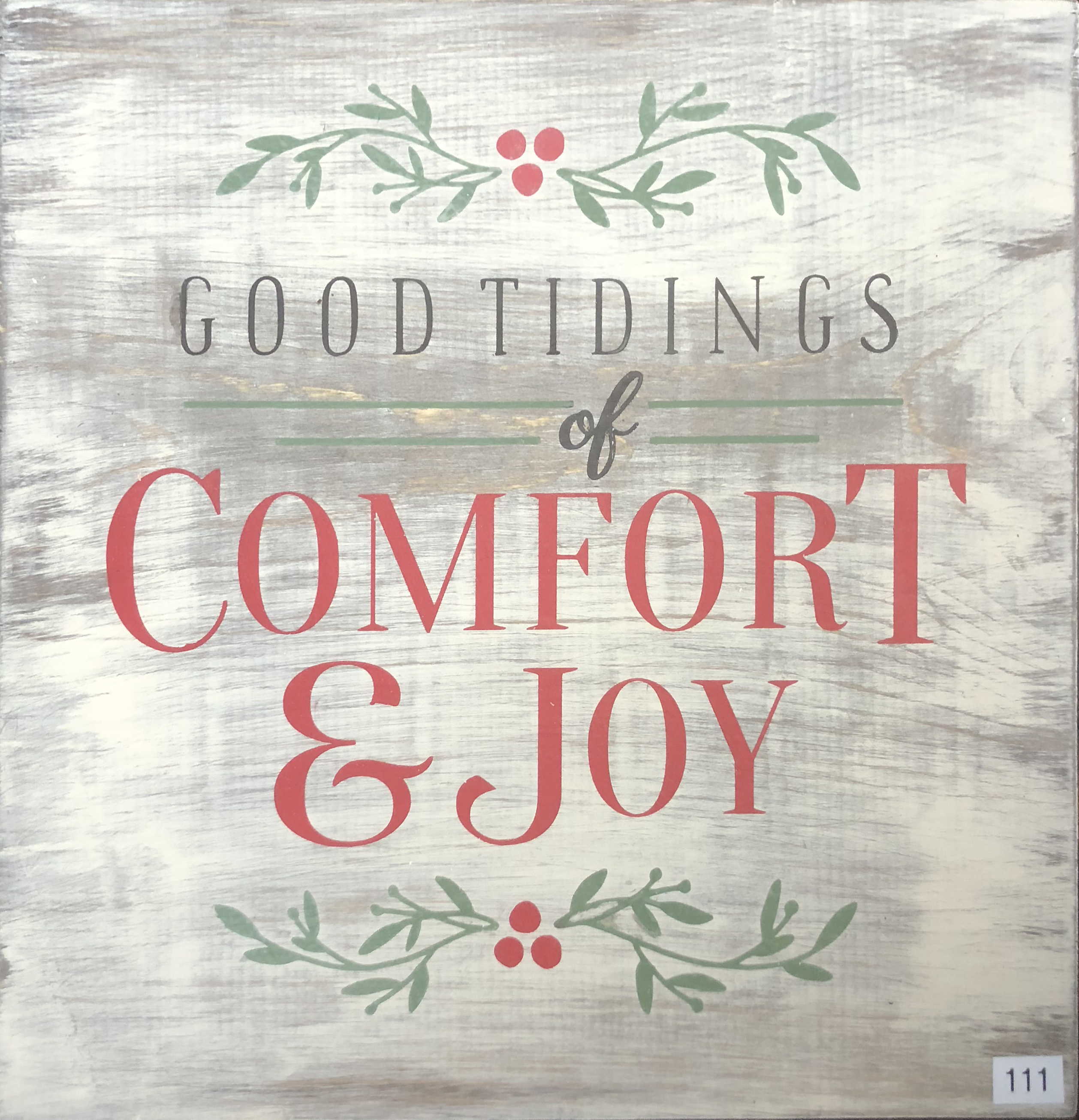 #111 Tidings of Comfort & Joy