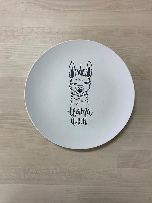 Llama Queen Plate