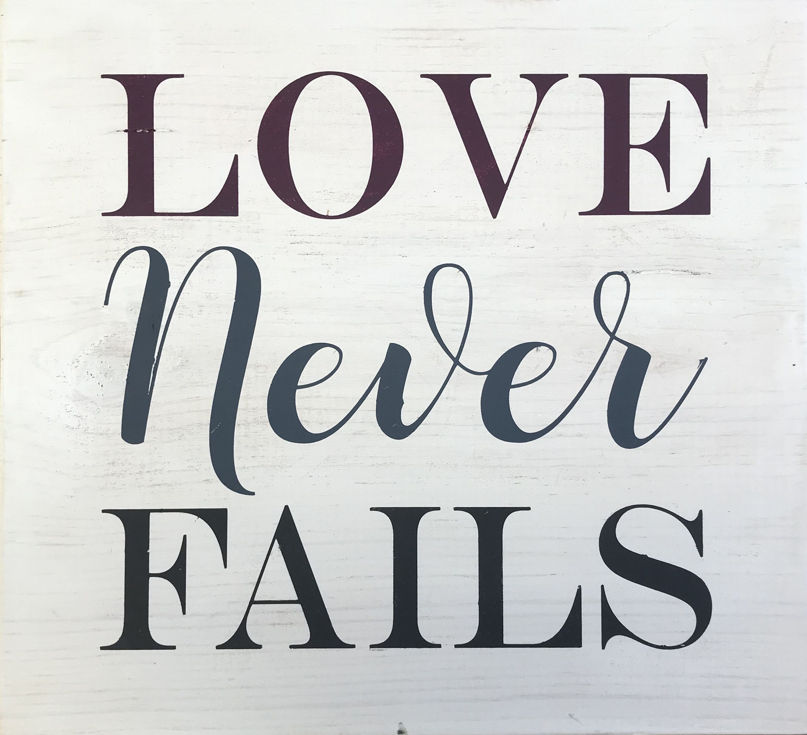 #130 Love Never Fails
