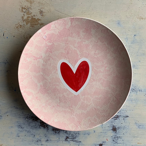 Lace Heart Dinner Plate