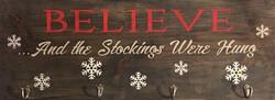#110 Believe Stocking Hanger
