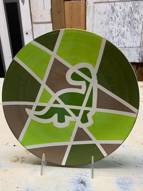 Dino Mosaic Plate