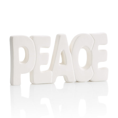 Peaces word Plaque