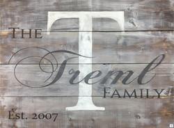 #16 Horiz Family Monogram Overprint
