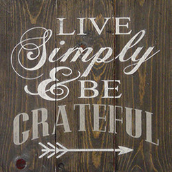 #56 Live Simply and Be Grateful