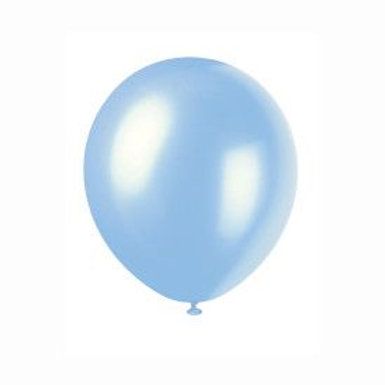 """Balloon Latex 12"""" Pearl Powder Blue 72C"""