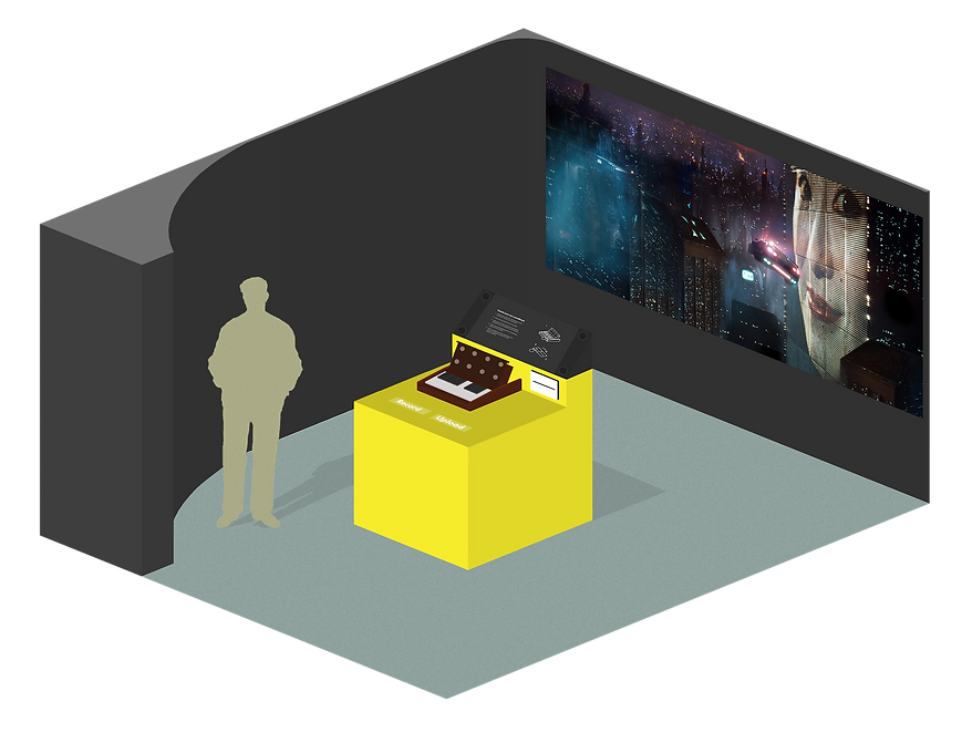 The World of the Synthesizer Synth soundtrack recreation mock up room