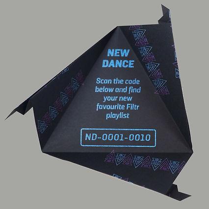 Arjowiggins & Sony Music origami playlists New Dance open