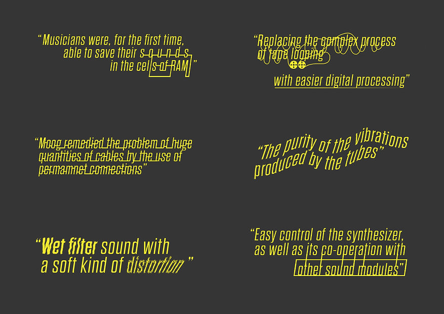 The World of the Synthesizer quote designs