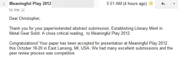 Paper Accepted!
