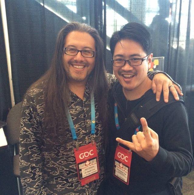 Facebook - MANAGED TO GET A PHOTO WITH JOHN ROMERO, THE DOOM-FATHER!!!