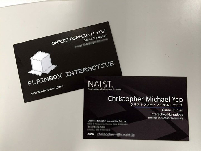 New spiffy-looking business cards