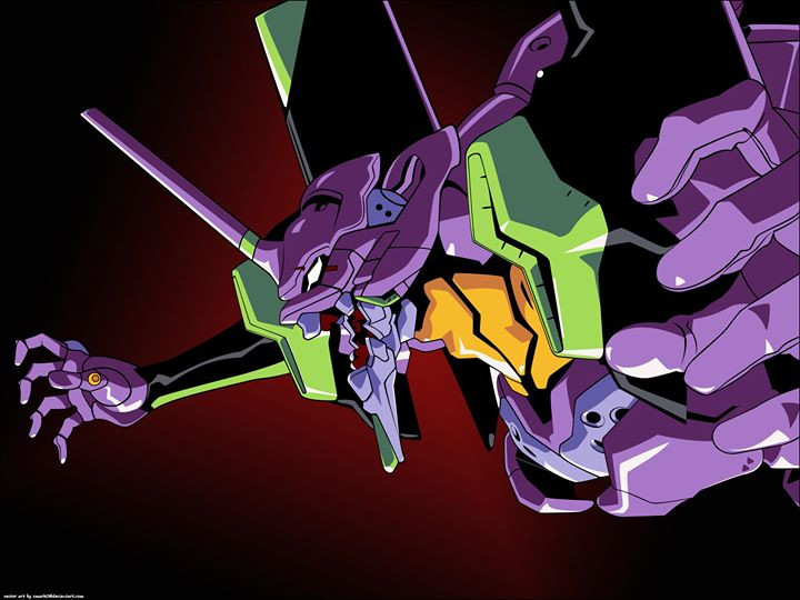 Facebook - I came across this nice rendition of Evangelion Unit 01 on deviantart