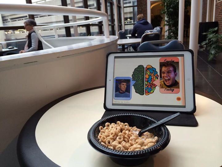 Facebook - PAX East Day 1: Slide review and Cheerios for breakfast. Jet lag made
