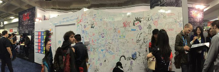 Facebook - The free-for-all whiteboard art thingy at Riot Games expo area.jpg