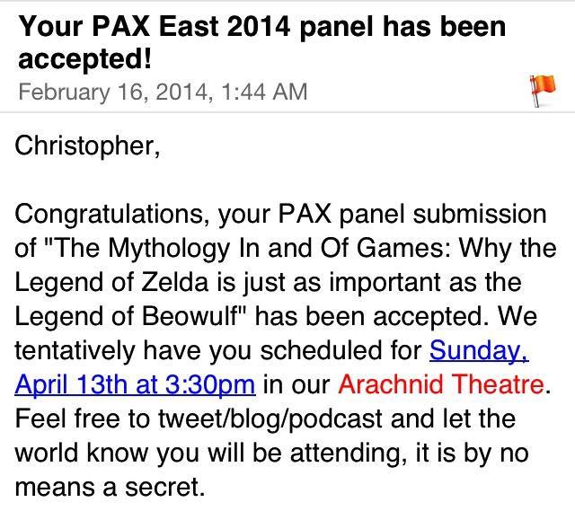 PAX East 2014 Acceptance!