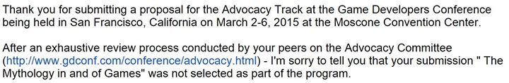 Facebook - D'OH!   My submission for GDC 2015's Advocacy Track didn't get in thi