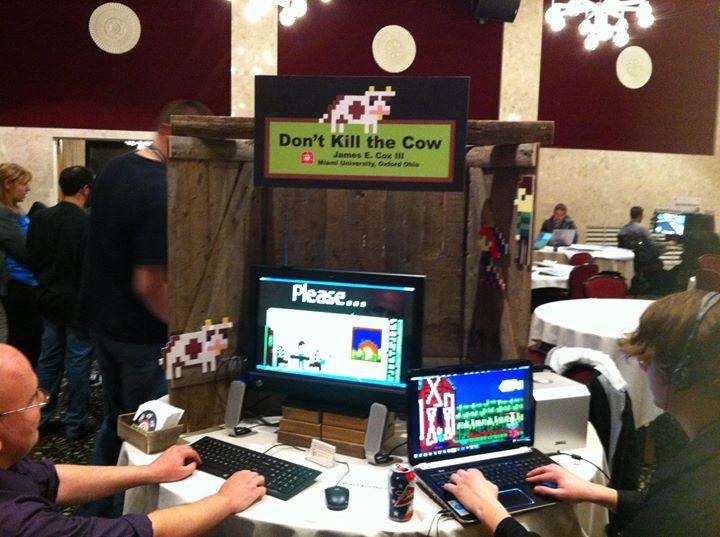 Facebook - 学生製作、道徳的「Don't Kill the Cow!」(牛を殺すな)というゲームである。目的はそのままである。ただ、7分間で牛を殺せず