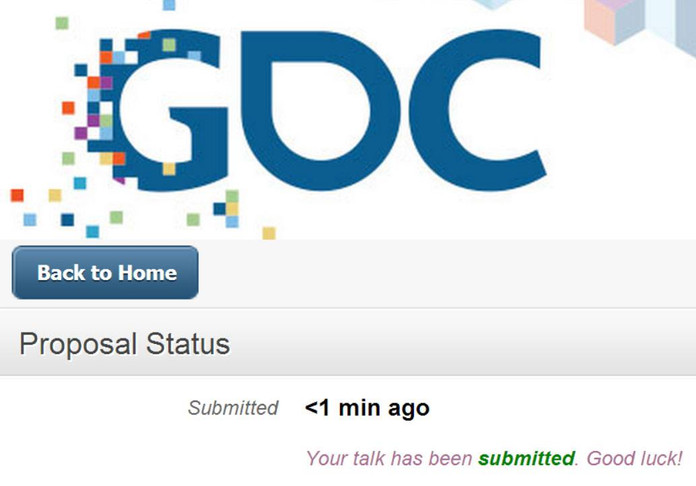Submitting for GDC 2015